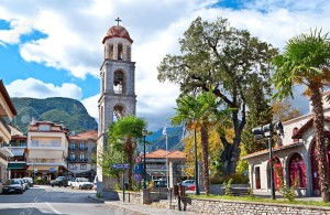 The town of Litochoro